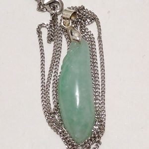 Authentic type a real lucky green jade pendant